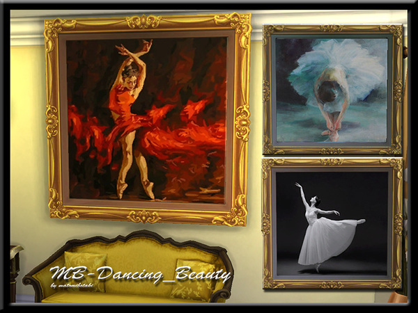 Sims 4 MB Dancing Beauty paintings by matomibotaki at TSR