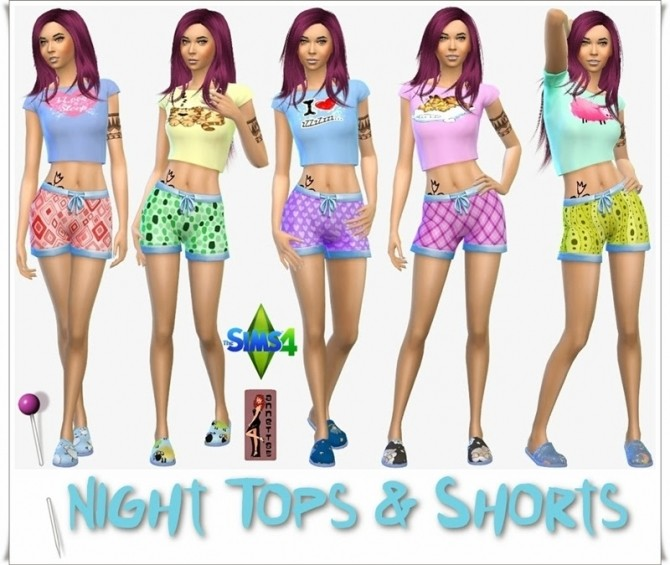 Night Tops & Shorts for females at Annett's Sims 4 Welt image 924 670x565 Sims 4 Updates