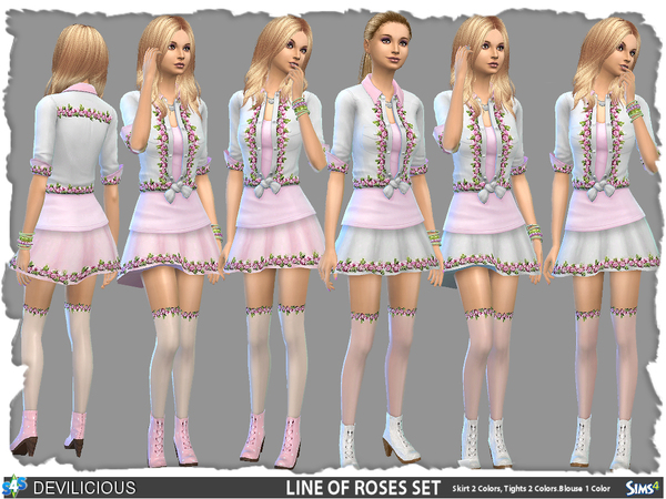 Line Of Roses Set by Devilicious at TSR image 940 Sims 4 Updates