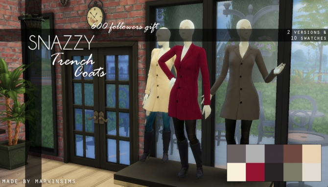 Snazzy Trench Coats At Marvin Sims 187 Sims 4 Updates