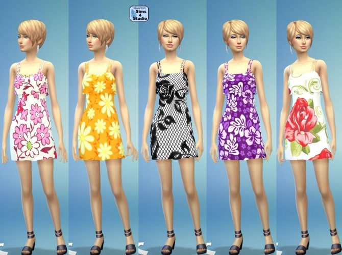 Flutter Dress in 10 Floral Designs by wendy35pearly at Mod The Sims image 9518 670x501 Sims 4 Updates
