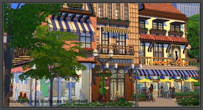 Boutiques and Starbucks at Tanitas8 Sims image 953 670x363 Sims 4 Updates