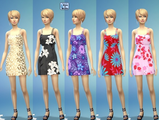 Flutter Dress in 10 Floral Designs by wendy35pearly at Mod The Sims image 9617 670x508 Sims 4 Updates