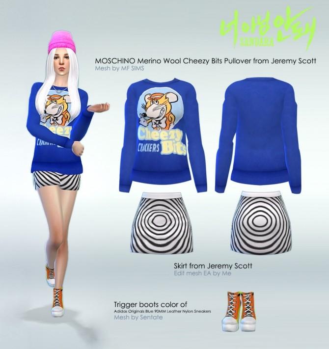 Sims 4 2NE1 clothes at manuea Pinny