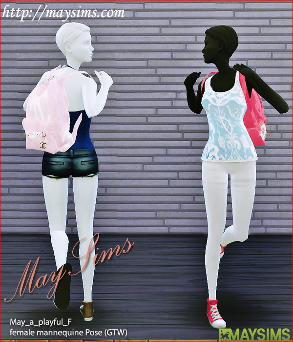 Sims 4 GTW mannequin pose at May Sims