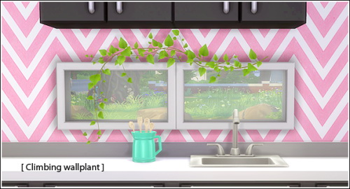 Sims 4 Climbing wallplant at Lina Cherie