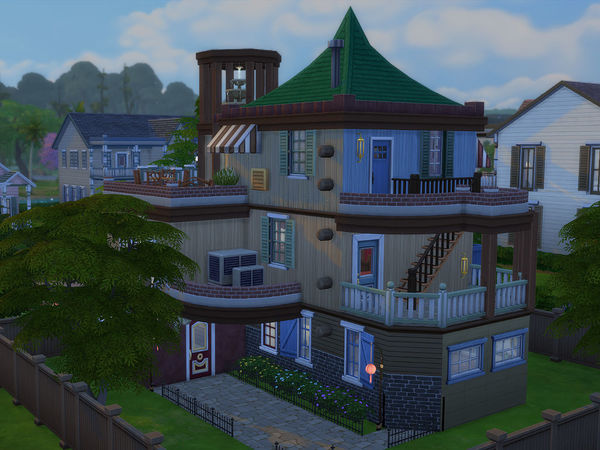Sims 4 Village House by Ineliz at TSR