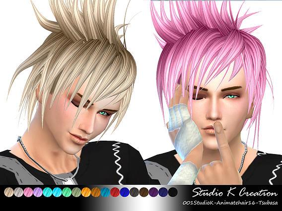 Sims 4 Akira Animate hair 16 at Studio K Creation