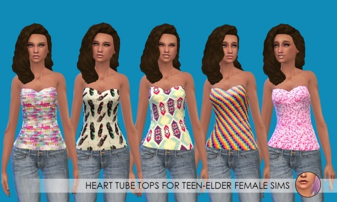 Tube tops and slouchy tanks at Erica Loves Sims image 10018 670x401 Sims 4 Updates