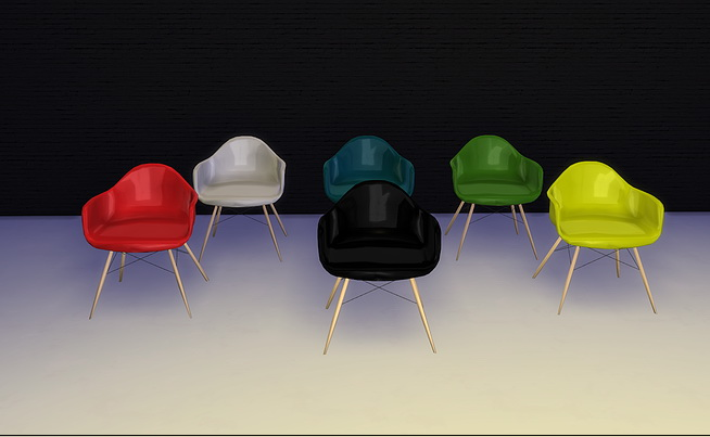 Eames Rocker and armchair at Meinkatz Creations image 1006 Sims 4 Updates