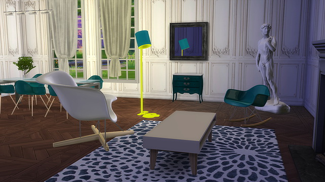 Sims 4 Eames Rocker and armchair at Meinkatz Creations