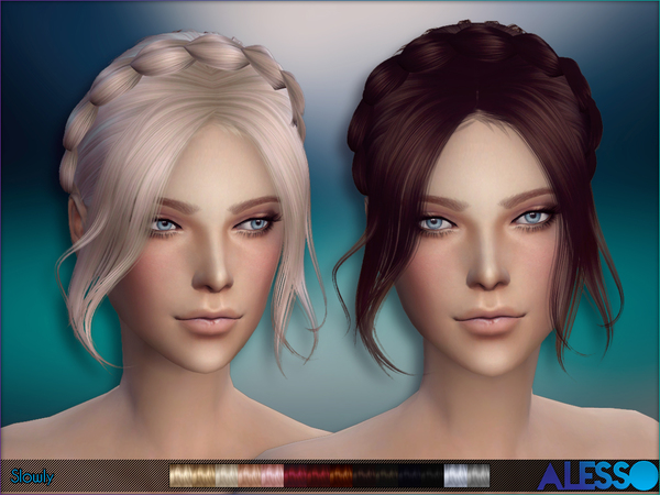 Slowly hair by Alesso at TSR image 10116 Sims 4 Updates