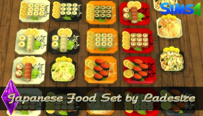 Japanese Food Set At Ladesire 187 Sims 4 Updates