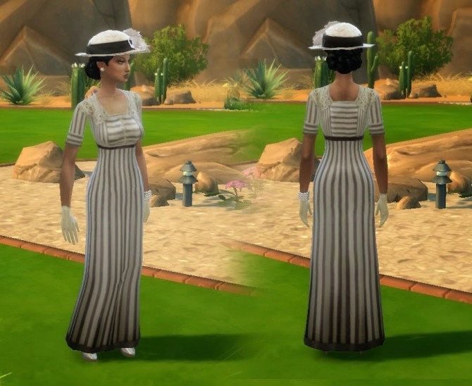 Edwardian Fashion 01 Conversion + Gloves + Hat at My Stuff image 10122 670x548 Sims 4 Updates