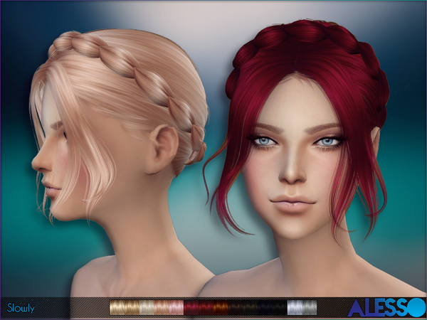 Slowly hair by Alesso at TSR image 10214 Sims 4 Updates