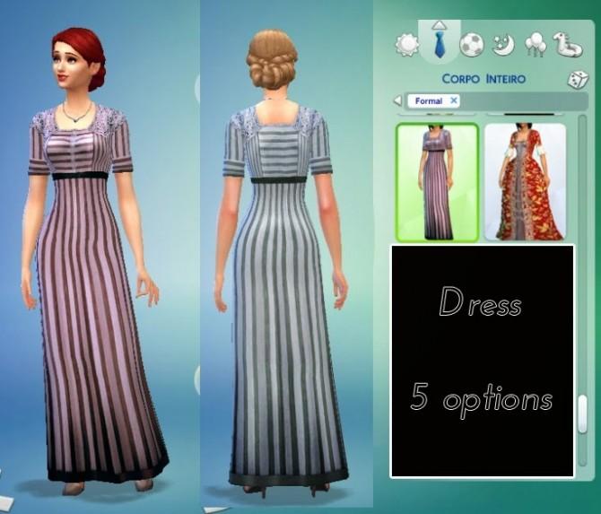 Edwardian Fashion 01 Conversion + Gloves + Hat at My Stuff image 10220 670x573 Sims 4 Updates