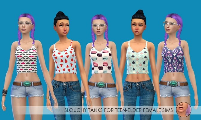 Tube tops and slouchy tanks at Erica Loves Sims image 10222 670x401 Sims 4 Updates
