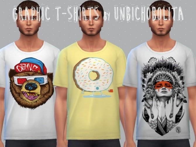 Graphic T Shirts At Un Bichobolita 187 Sims 4 Updates