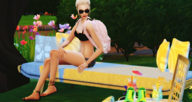 Sims 4 Summer Chill Pose In Game by Dreacia at My Fabulous Sims