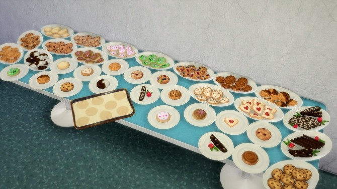 Sims 4 Cookies + cookie pan at Budgie2budgie