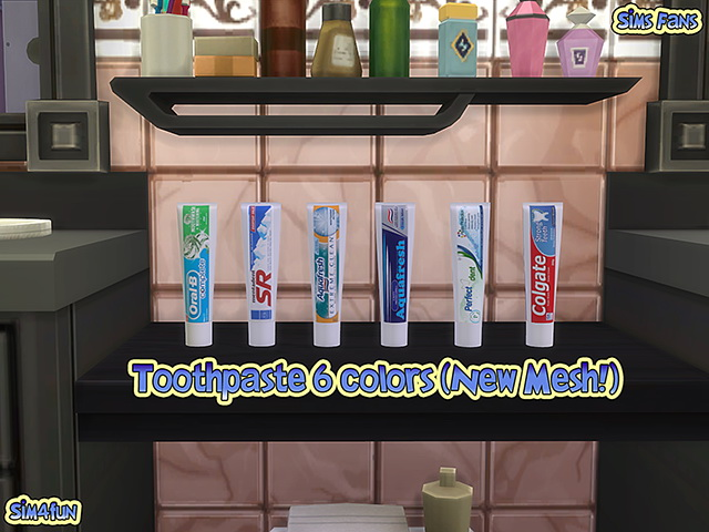 Toothpaste by Sim4fun at Sims Fans image 10517 Sims 4 Updates