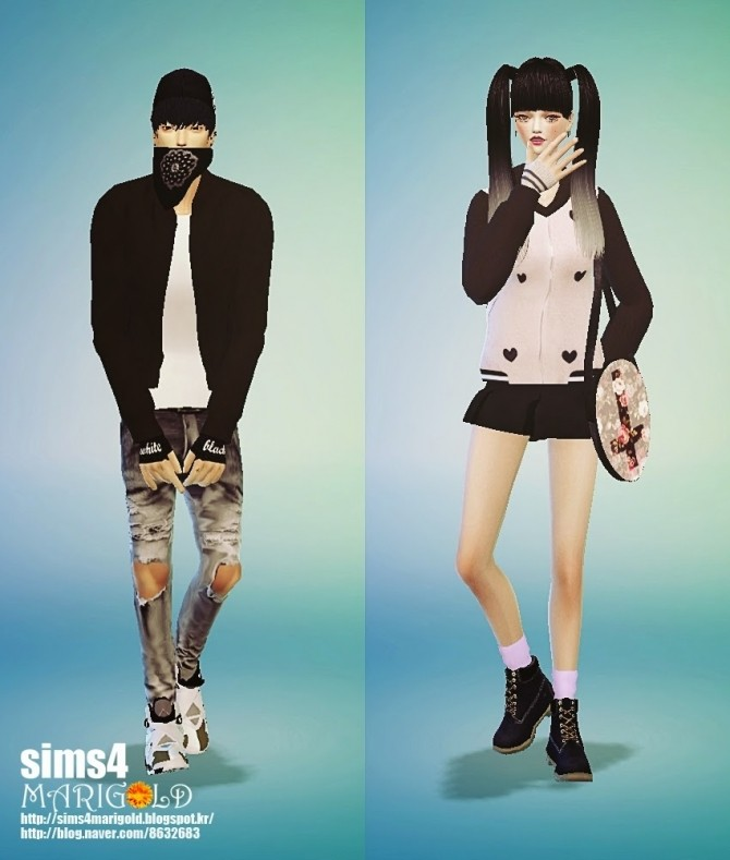 Sims 4 Tight version arm warmers at Marigold
