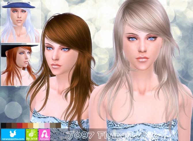Más notable descargar peinados sims 4 Colección De Cortes De Pelo Consejos - J097 Flying Dance hair (Pay) at Newsea Sims 4 » Sims 4 Updates