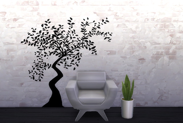 Sims 4 Tree Wall Sticker by Melinda at Sims Fans