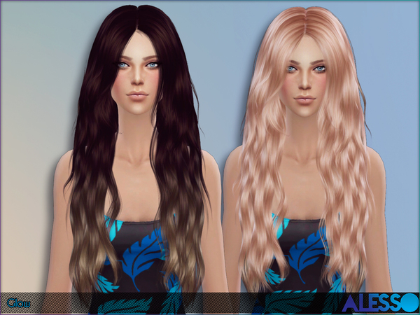 Glow Hair by Alesso at TSR image 11000 Sims 4 Updates