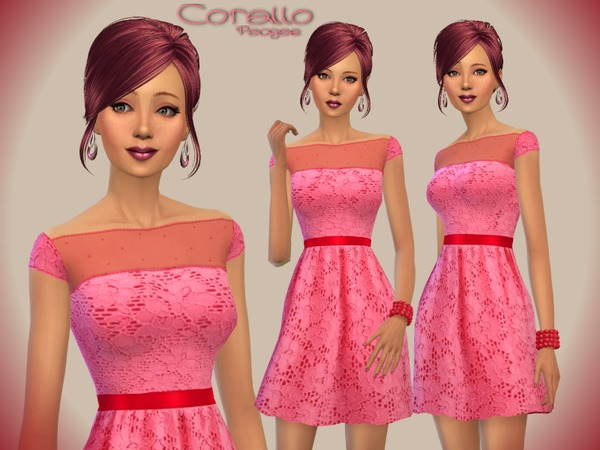 Corallo dress by Paogae at TSR image 11103 Sims 4 Updates