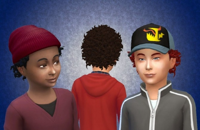 Sims 4 Close Curls for Boys at My Stuff