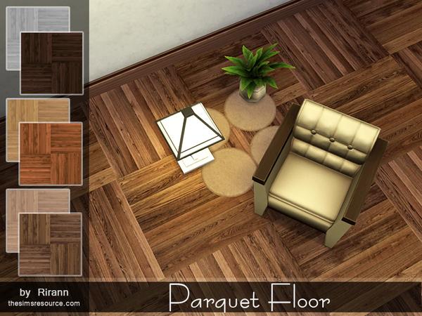 Sims 4 Parquet Floor by Rirann at TSR