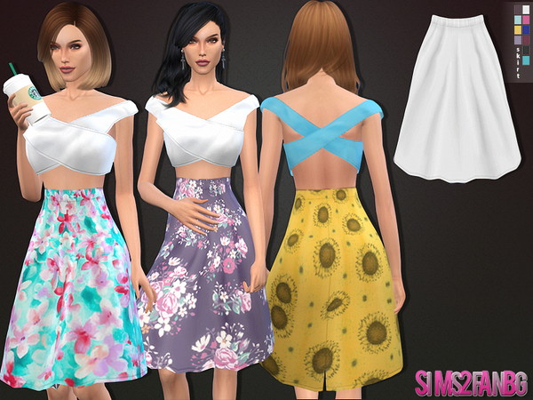 Sims 4 42Spring set top and skirt by sims2fanbg at TSR