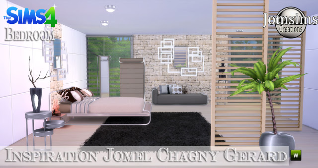 Jomel Chagny Gerard inspired bedroom at Jomsims Creations image 11225 Sims 4 Updates