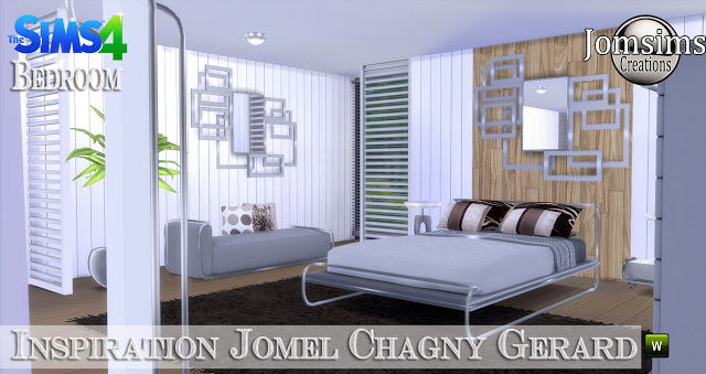 Jomel Chagny Gerard inspired bedroom at Jomsims Creations image 11620 Sims 4 Updates