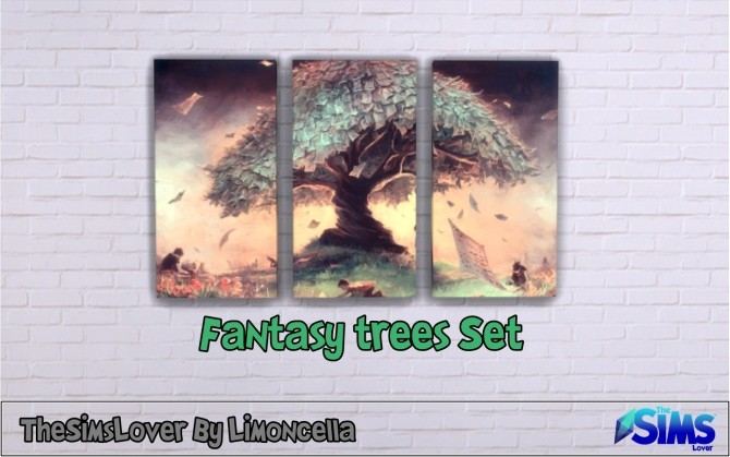 Sims 4 Fantasy Trees Set by Limoncella at The Sims Lover