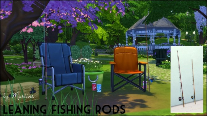 Leaning fishing rods at Martine's Simblr image 1190 670x377 Sims 4 Updates