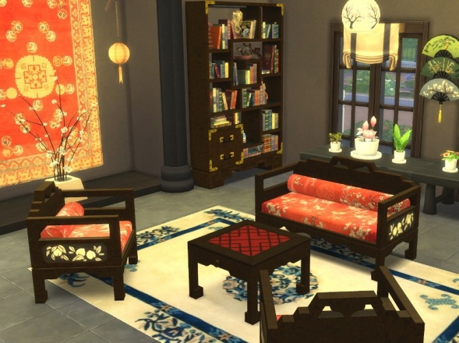 Asian Living Set At Leander Belgraves 187 Sims 4 Updates