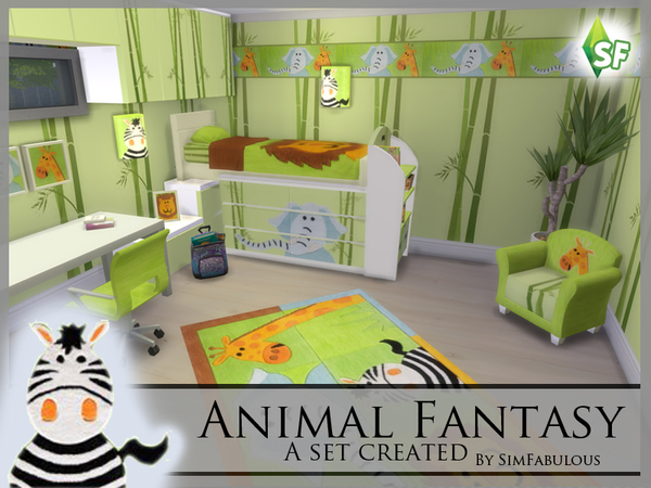 Animal Fantasy Nursery Set By Simfabulous At Tsr 187 Sims 4