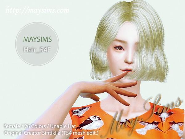 Sims 4 Hair 54F at May Sims