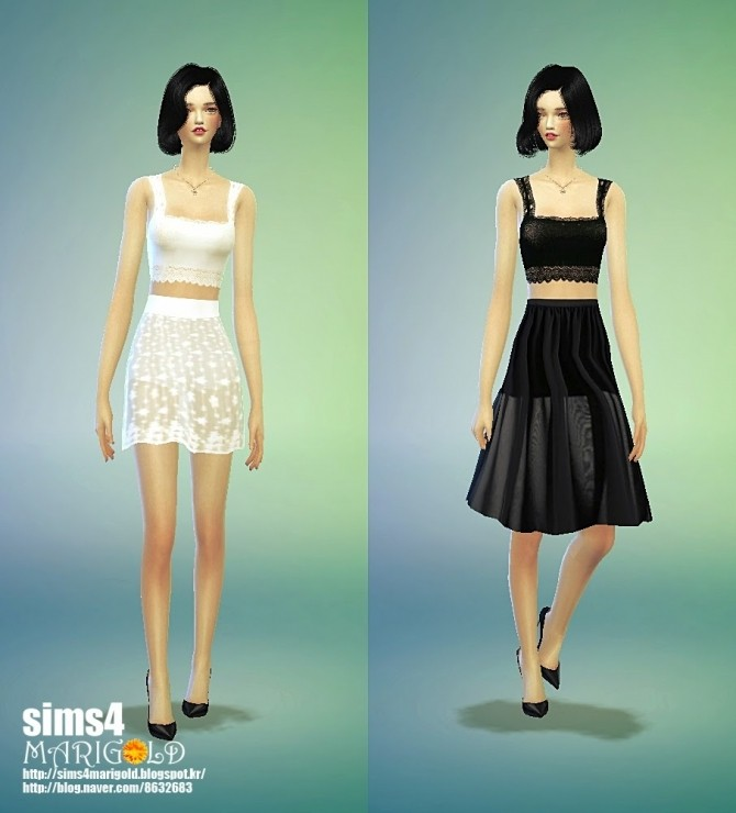 Lace h line mini skirt at Marigold image 1239 670x740 Sims 4 Updates