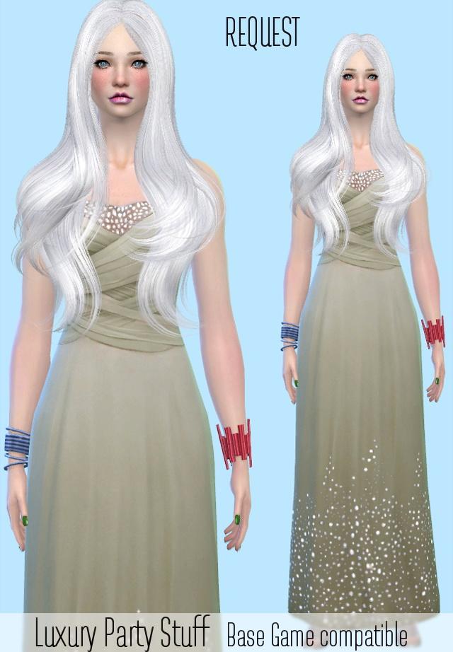 Luxury Party Stuff Bracelets Dress Conversion Base Game