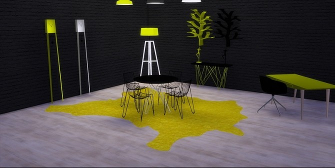 Sims 4 Mellow Yellow objects pack at Meinkatz Creations
