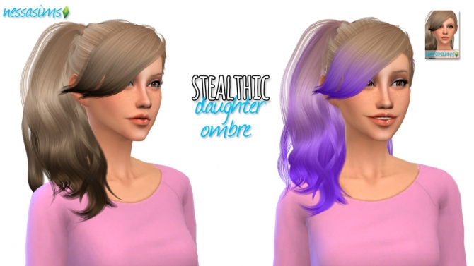 Stealthic Daughter Ombre at Nessa Sims » Sims 4 Updates