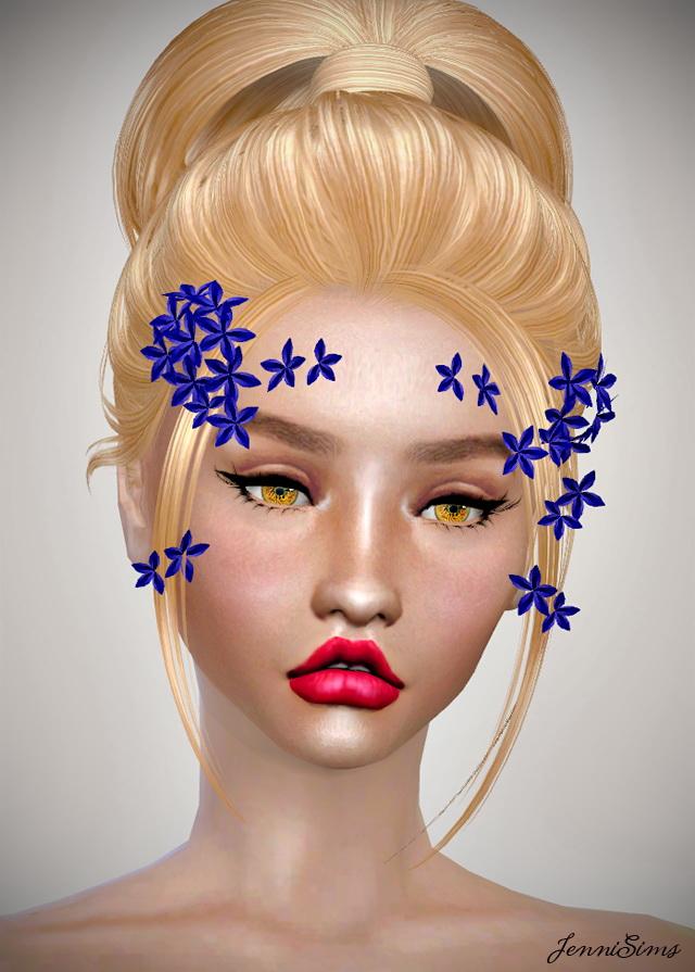Sims 4 Flowers Bow Headband at Jenni Sims