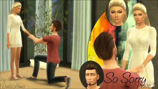 Sims 4 So Sorry Couple Poses by DalaiLama at TSR