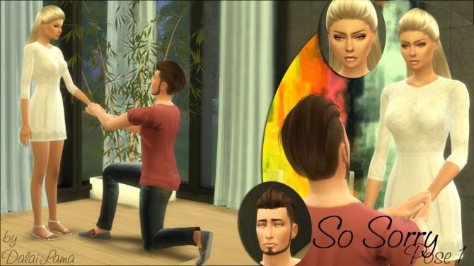 So Sorry Couple Poses by DalaiLama at TSR image 12614 670x377 Sims 4 Updates