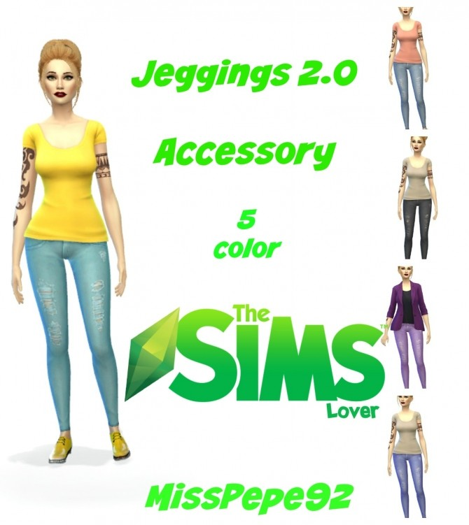Sims 4 Jeggings / Jeans by MissPepe92 at The Sims Lover