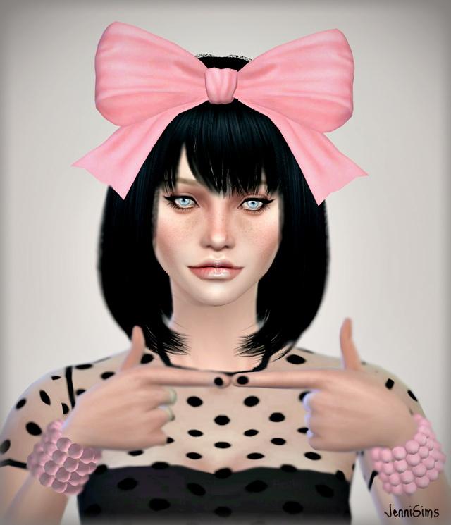 Flowers Bow Headband At Jenni Sims  U00bb Sims 4 Updates