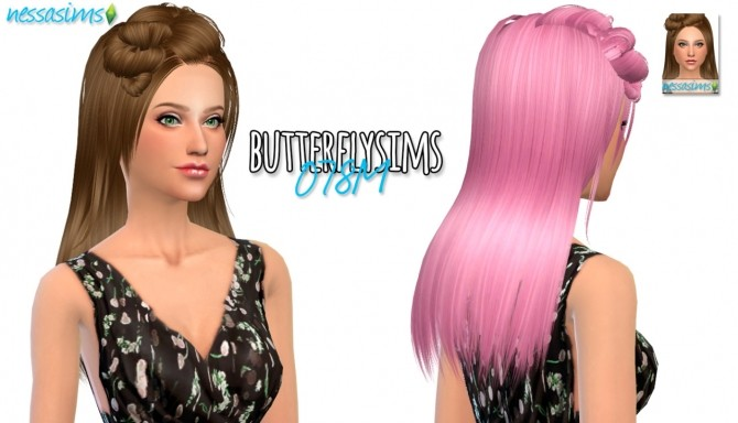 Butterflysims 078M hair retexture at Nessa Sims image 12718 670x384 Sims 4 Updates